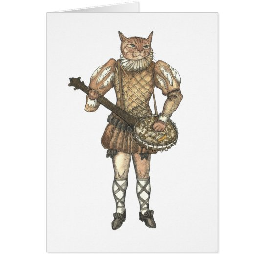 Banjo Cat Card