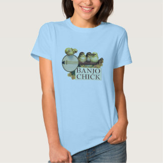 Banjo Chick Ladies Baby Doll (Fitted) T-shirts