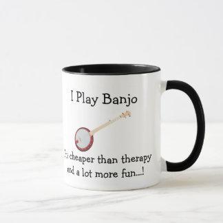 Banjo Coffee Mug I Play Banjo Cheaper Than Therapy