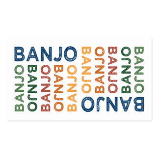 Banjo Cute Colorful Business Cards