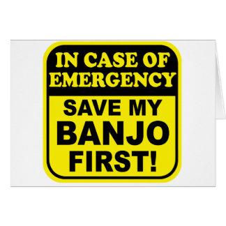 Banjo Emergency Greeting Cards