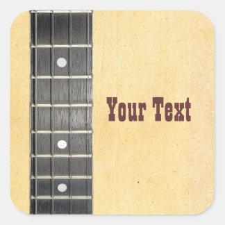 Banjo Fretboard Name Gift Tag Bookplate Square Sticker