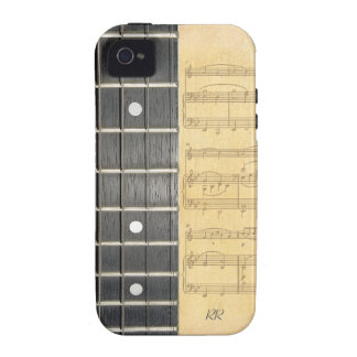 Banjo Fretboard Sheet Music iPhone 4/4S Vibe Case Case-Mate iPhone 4 Cover