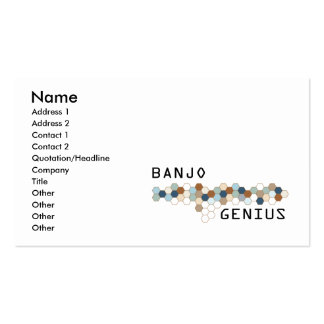 Banjo Genius Business Card Templates