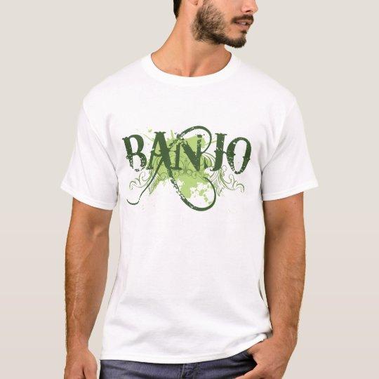 Banjo Green Grunge Music Logo Gift T-Shirt