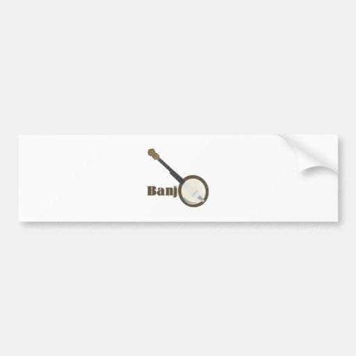 Banjo Instrument Bumper Sticker