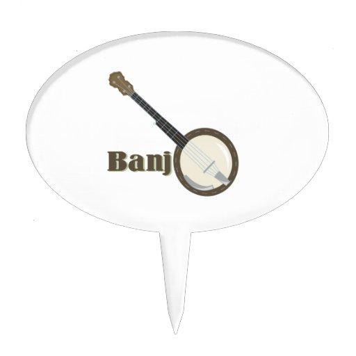 Banjo Instrument Cake Toppers