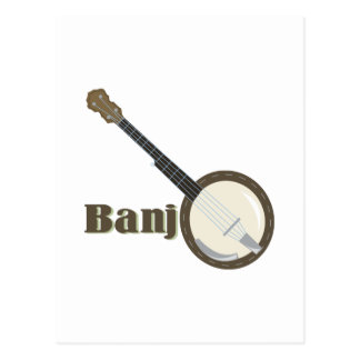 Banjo Instrument Postcard