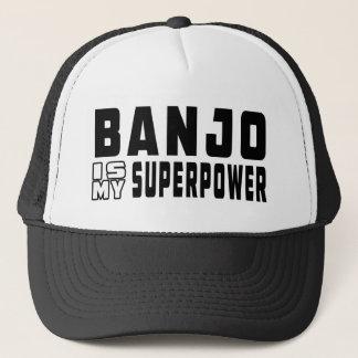 Banjo Is My Superpower Trucker Hat