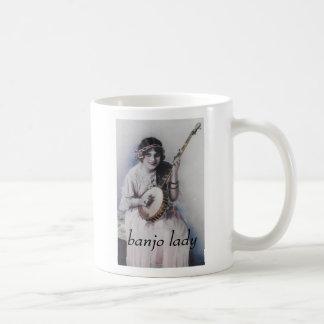 banjo lady coffee mug