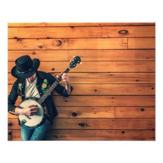 Banjo Man Art Photo