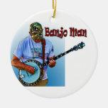 BANJO MAN CHRISTMAS TREE ORNAMENT