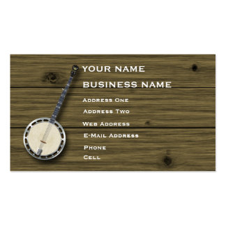 Banjo - Music Business Card