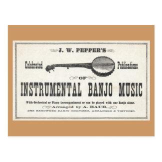 Banjo Music Postcard