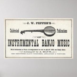 Banjo Music Poster