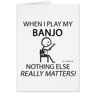 Banjo Nothing Else Matters Card