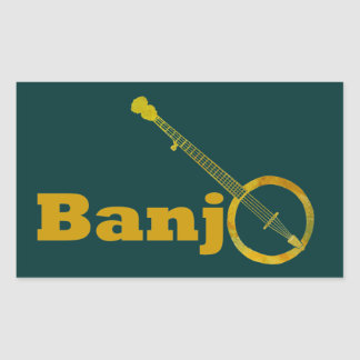 Banjo O Rectangular Sticker
