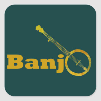Banjo O Square Sticker