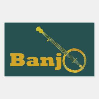 Banjo O Rectangular Stickers