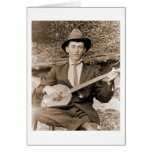 Banjo Player Card