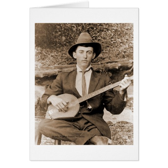Banjo Player Card