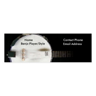 Banjo Player Contact Profile Card Business Card Template