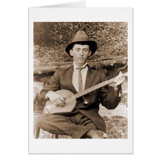 Banjo Player Greeting Card