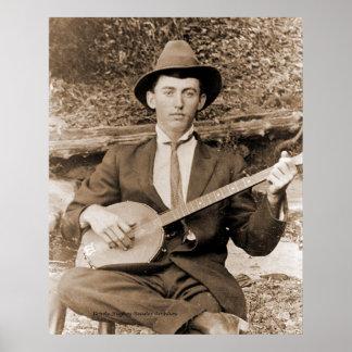 Banjo Player Posters
