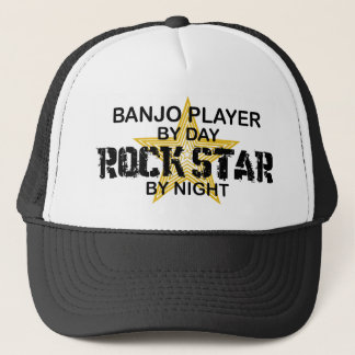 Banjo Player Rock Star by Night Trucker Hat