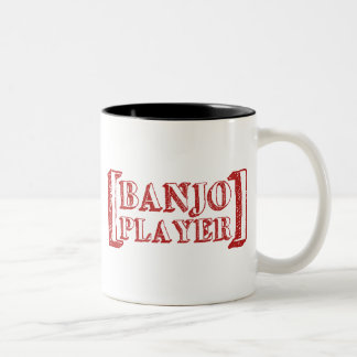 Banjo  Player Two-Tone Coffee Mug