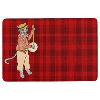 Banjo Player's Red Plaid Comfort Floor Mat