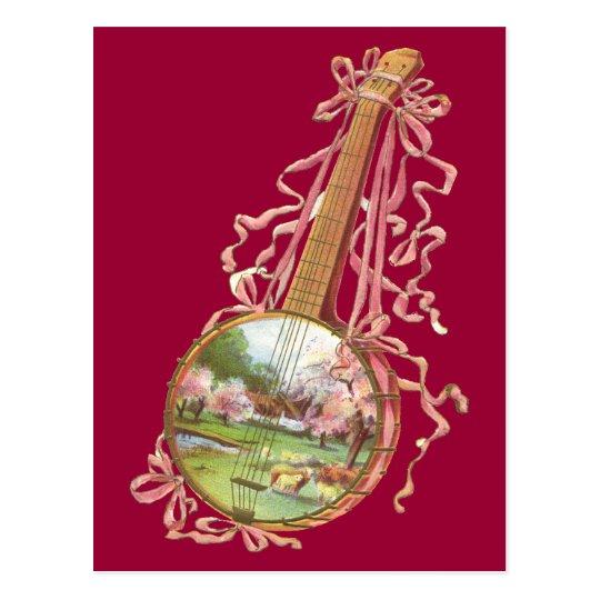 Banjo Ribbons Postcard