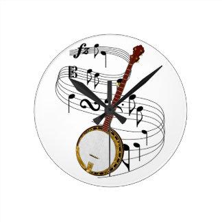 Banjo Round Clock