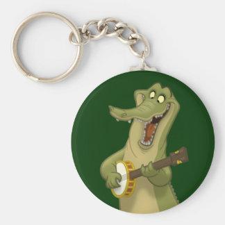 Banjo-Strummin' Gator Keychain