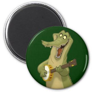 Banjo-Strummin' Gator Magnet