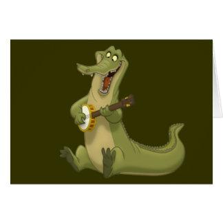 Banjo-Strummin' Gator Note Cards