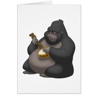 Banjo-Strummin' Gorilla Card (Blank Inside)