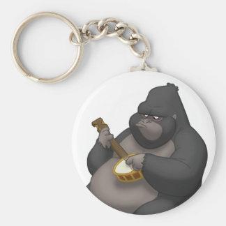 Banjo-Strummin' Gorilla Keychain