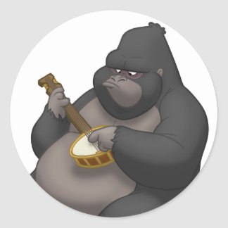 Banjo-Strummin' Gorilla Stickers