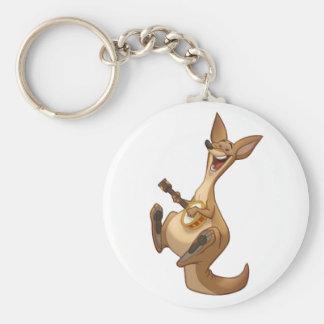 Banjo-Strummin' Kangaroo Keychain