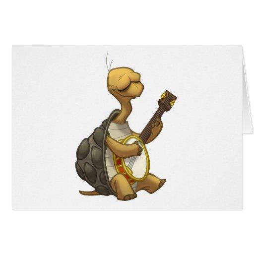Banjo-Strummin' Tortoise Card (Blank Inside)