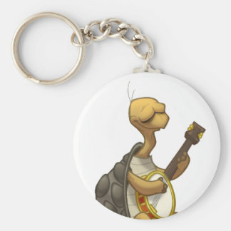 Banjo-Strummin' Tortoise Keychain