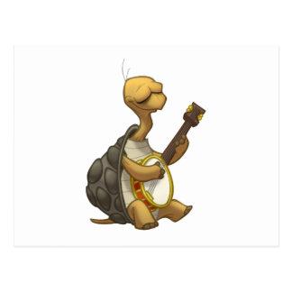 Banjo-Strummin' Tortoise Postcard