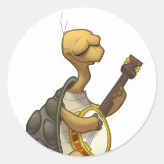 Banjo-Strummin' Tortoise Stickers