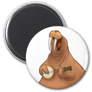 Banjo-Strummin' Walrus Magnet