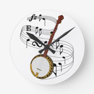 Musical Instrument Wall Clocks Zazzlecouk