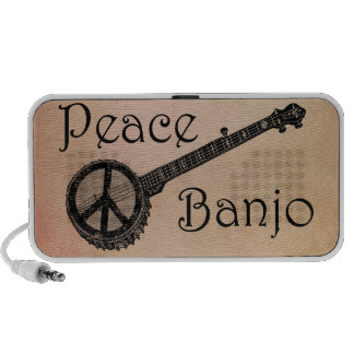 Banjo with the Peace Sign Mp3 Speakers