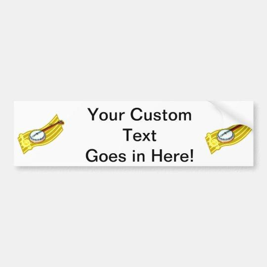 Banjo With Treble Clef ribbon design Bumper Sticker