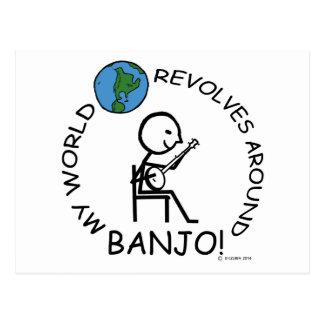 Banjo - World Revolves Around Postcard