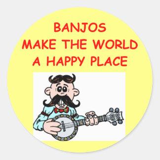 banjos classic round sticker
